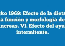Bucko 1969: Efecto de la dieta en la función y morfología del páncreas. VI. Efecto del ayuno intermitente.