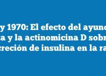 Grey 1970: El efecto del ayuno, la dieta y la actinomicina D sobre la secreción de insulina en la rata.