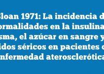 Sloan 1971: La incidencia de anormalidades en la insulina en plasma, el azúcar en sangre y los lípidos séricos en pacientes con enfermedad aterosclerótica.