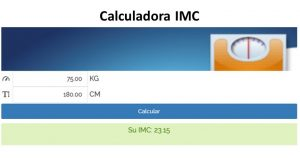 calculadora indice de masa corporal